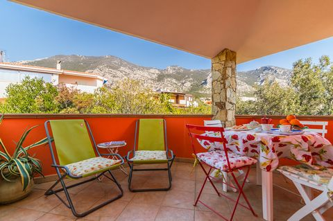 New penthouse in a villa with beautiful views of the surrounding greenery, located in the residential area of Cala Gonone. Internally it consists of living room with kitchenette and single sofa bed, double bedroom, second bedroom with bunk bed which ...