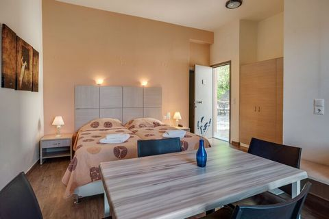 Welcome to the picturesque village of Lesvos Island where 2 people can stay comfortably. Your stay is an apartment with 1 bedroom with 2 single beds, 1 double bed, a TV, balcony and air-conditioning. Also, it has a shared swimming pool, a restaurant,...