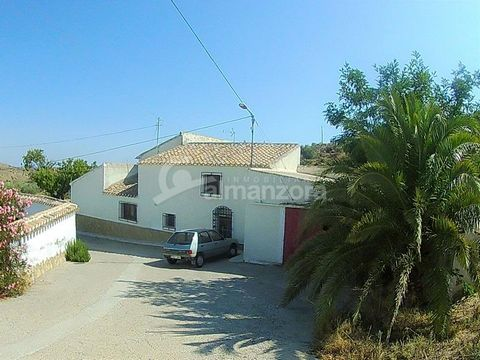 A Semi-Detached two storey Cortijo with garage for sale close to the village of Las Pocicas in the beautiful area of the Salente Valley here in Almeria Province . Inside the Cortijo, upon entry, is the hallway with a bedroom to the left and right.The...