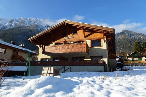 This ground floor apartment is located in Chamonix, France. It has an open equipped kitchen, a living-dining area, a terrace with furniture, and 2 bedrooms, which makes it ideal for 4 member families. The famous city of Chamonix is more than 1000 m a...