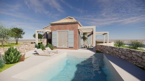 For sale a dreamy under construction villa of 220 sqm situated close to Gaios, on Paxos island. The architecture of this project combines all the elements of Greek beauty. The elements of stone and wood, in combination with the distant view to the se...