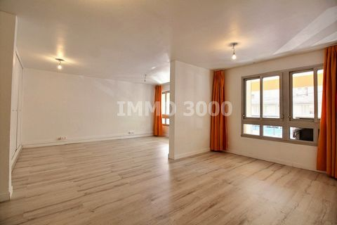 Résience de standing. Appartement 3/4 pièces, spacieux et atypique, en excellent état. Traversant Sud / Nord. Possibilité de le transformer en local p
