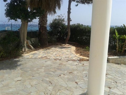 Zakynthos. Beachfront luxury villa of 250 sqm, right on the beach, which is three levels and comprises 4 bedrooms, 3 bathrooms, large living room, kitchen, playroom and is bright. The house located within fenced and paved land 500 sqm, with direct ex...