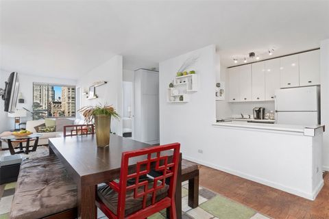 This is a one bedroom one bath ,oversized windows , balcony, open galley kitchen, dining area,open living room, ample closet space .The Stanford Condominium is a luxury 24 hour doorman building directly off Madison Square Park in between the Nomad, G...