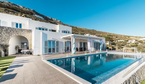 This villa is a delightful sea view luxury retreat, designed for providing a comfortable and luxurious stay. The idyllic Villa in Paros was built on 2 levels, according to the Cycladic architecture, combined with the traditional Parian stone, always ...