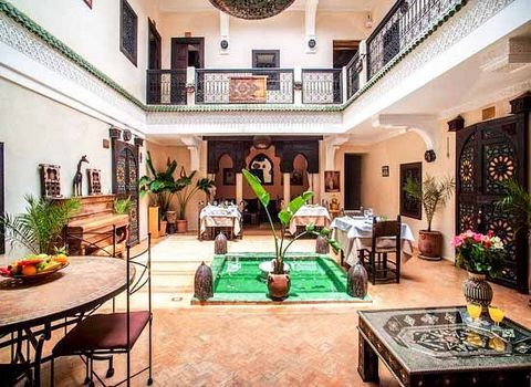 In a secret hideout in the Medina, camouflaged between the plain façades of the area, This Riad is a place whose doors open up to immerse yourself into a magical environment. When you come inside, you'll feel the calm and freshness of a space designe...
