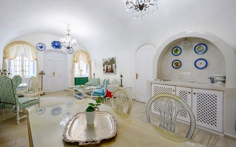 Cave house was built at around 1820 and used to operate as the bakery of the village. Has 95 sqm interior spaces and features two bedrooms with double beds and en suite bathrooms, a spacious living room with a dining area, a smaller living room and t...