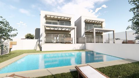 A semi-detached 3 bedroom villa in Moraira, with private pool, just 2.5 km from the beach. This magnificent project, under construction, of modern style is distributed over 2 floors on a plot of 458 m2 and has 130 m2 covered construction. This proper...