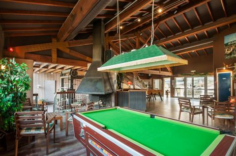 The holiday village La Souleille des Lannes in the Pyrénées is situated 3 km from Seix, on top of a ridge 700m away and 20 km from Guzet Neige ski resort. The complex comprises of 70 traditional independant or group of 4 chalets. Available is a free ...
