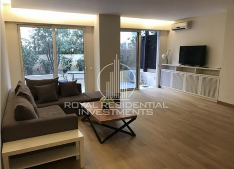 Property Code: 28574 - Apartment FOR RENT in Attika - South Glyfada for €2.400. This 130 sq. m. Apartment is built on the Ground floor and features 2 Bedrooms, Livingroom, Kitchen, 2 Bathrooms , WC Built in 1999