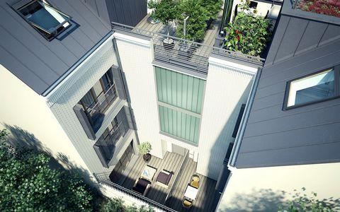 Studio/2 pièces souplex de 26.20 m2 habitables au rez-de-chaussée et un sous-sol de 31 m2. Cuisine ouverte, salle d'eau avec WC, accessibilité pour personne à mobilité réduite, porte-fenêtres donnant sur cour. Dans une élégante résidence de 12 appart...