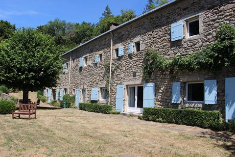 Set in the heart of the Parc Naturel du Haut Languedoc, surrounded by 42 ha of prairie and forest, this lovely stone property has been renovated in a contemporary style to provide 7 bedrooms and 6 bathrooms. A large living area, dining room and kitch...