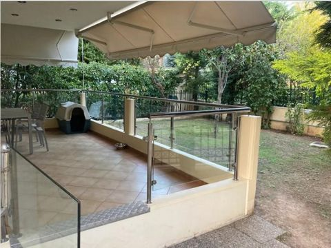 Stunning apartment for sale in the elite area of the Athenian Riviera Glyfada. The apartment is located on the ground floor and has 85 sq.m. living area, consists of a living room with kitchen, two bedrooms, bathroom and WC. The kitchen is equipped w...