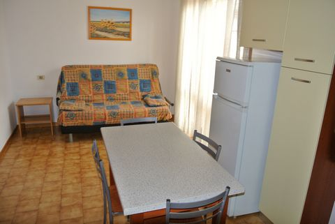 One roomed flat on 2° floor is composed by living room with double sofa bed, kichenette, bath with shower. Terrace. Air condition (extra). TV. Option booking not available Please note: the rates do not include the mandatory hirers' liability insuranc...