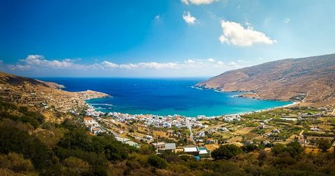 For sale land of 30750 sq.m. at Andros island. 800 m. from the sea with wiew of South Evia, Kavo Doro. The plot can be sold in whole or in parts. It is not a forest land. It has a road all along the plot. Price 90.000 €