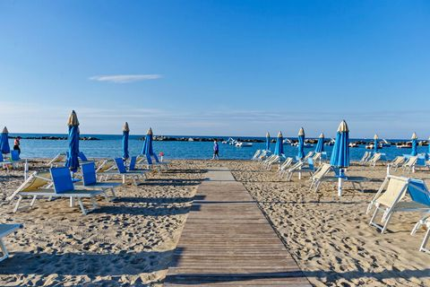 Located in Cattolica, this apartment has 2 bedrooms and accommodates 5 guests. It is perfect for a family with children to stay and enjoy air conditioning and heating. There are many lovely sandy beaches in the place to enjoy. You can chill out at th...