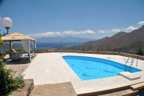 REDUCED FROM E550,000 - A modern vIlla In an exceptIonal mountaInsIde locatIon wIth unrIvaled panoramIc vIews over Elounda, East Crete, Elounda bay and the dIstant mountaIns of SItIa. The resort of Elounda Itself Is wIthIn a 7-8 mInute drIve. The pro...