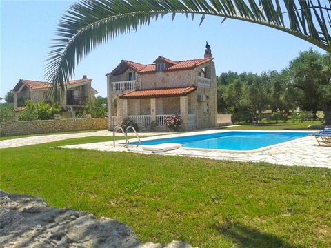 Zakynthos. A beautiful stone villa of 100 sqm with large swimming pool is for sale. The quiet location in an area of natural beauty in combination with the proximity of a wide range of amenities makes this an ideal holiday home. The two-storey stone ...