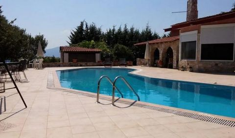 A wonderful villa in Zygos, Kavala with a large 75 sqm pool, framed by 300 sqm paved terraces and pergolas. A paradise within a 3,750 sqm plot with 2000 sqm olive trees (69 trees) and a fruit garden and a garden house of 16 sqm. The house is estimate...