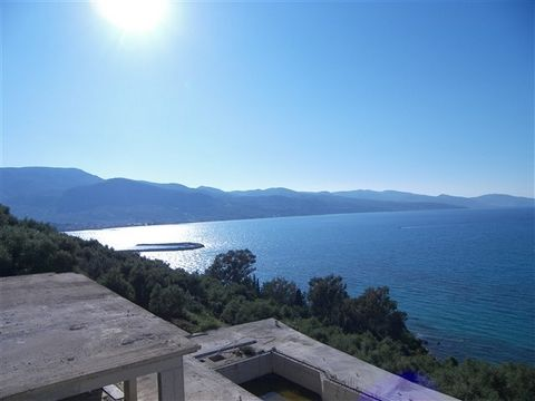 Zakynthos. Two beachfront villas 400sqm are for sale. This is a charming seaside villa complex with panoramic views and access to the sea. It has two buildings 200 square meters each, total 400sqm buildings and 80sqm swimming pool, 2030sqm fenced plo...