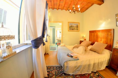Enjoy a stay in Lucca with fantastic views of Piazza San Michele and Piazza Napoleone. This 3-bedroom holiday home is perfect for a group of 7 people or families to stay and offers central heating and comfortable bedrooms. There are many activities t...