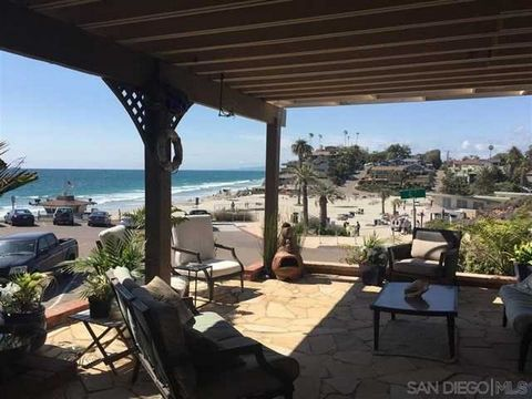Detailed Description: Motivated seller, bring all offers! Opportunity of a lifetime! Rare corner lot w / landmark property overlooking Moonlight Beach! Enjoy panoramic ocean views from every corner of this 3,000 sq.ft residence. Fully approved plans ...