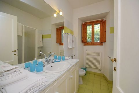 This 8-bedroom vacation home is a sprawling villa in Emilia-Romagna, and it can house up to 16 people. This countryside villa is an ideal stay for a large group or families with children. Nestled amid nature, this holiday home also has a shared swimm...