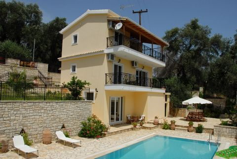 Villa of 180sq mtrs with swimming pool for sale in Paxos. The villa is located just 600mtrs from the Capital of Paxos – Gaios and is nestled amongst a beautiful olive grove, with breath-taking country views. The ground floor consists of open plan lou...