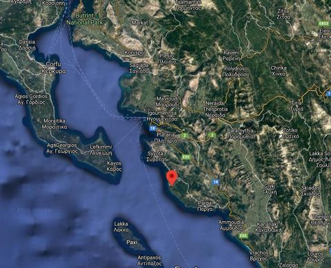 Epirus, Karavostasi. For sale a plot of land with total area of 8.062 sq.m. Building permit for houses 400sq.m plus 400sqm basements, for a hotels is 1.600 sq.m. It has olive trees and is about 500m from the sea. Price 250.000 euros.